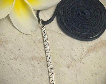 Long pendant, long bar necklace, layered necklace, layer pendant, bar pendant necklace, silver bar necklace, gifts for her, long bar pendant