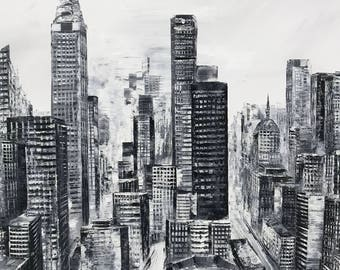 "Guojin Yang 602 New York 35x47"" Empire building"
