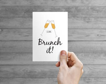 Printable Card - Brunch It!