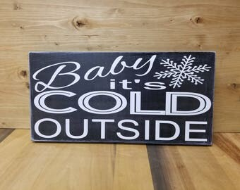Baby It S Cold Outside Throw Cushion Cover