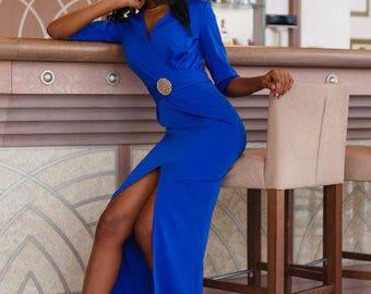 different colors Women's dress Julianna, elegant dress, long dress, evening dress, dress-foulard