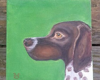 Original Acrylic german short haired pointer painting