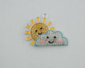 Sun and Cloud Needle Minder / Weather Needle Minder