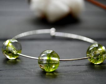 Flower jewelry - Forest jewelry - Real forest moss bracelet - green moss bracelet - moss resin bracelet - bracelet with real forest moss