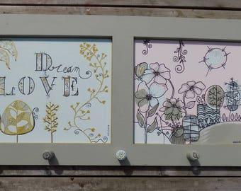 """Porte-manteaux/Porte-bijoux/Porte-accessoires/ """"Dream love"""""""