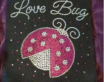 Youth Love Bug Sequins Shirt