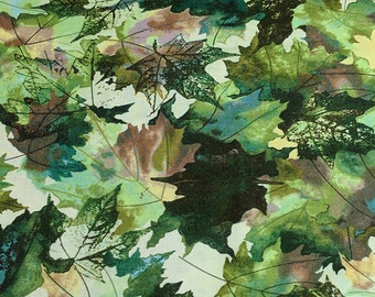 Leaf Parade-Green Leaves Cotton Fabric from Northcott