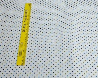 Cozy Cotton-Marine Dots-Cotton Flannel Fabric from Robert Kaufman Fabrics