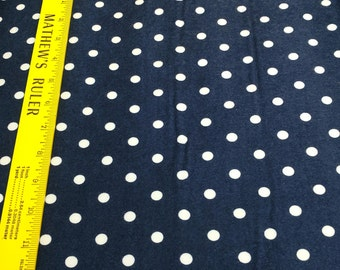 Cozy Cotton-Navy with White Dots Cotton Flannel Fabric from Robert Kaufman Fabrics