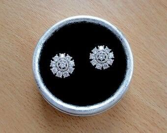 Diamond stud earrings crystal bridal earrings wedding gift mom mother of the groom mother of the bride earring studs bridesmaid jewelry jm