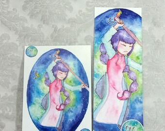 Postcard & Bookmark zodiac - Scorpio