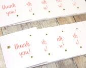Mini Thank You Cards - Set of Mini Thank You Cards - Mini Thank You Cards for Customers - Mini Note Cards - Mini Square Cards - Small Cards
