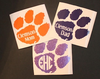 Clemson Tigers Mom/Dad Decal