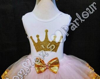 Princess tutu set, Pink and Gold tutu set
