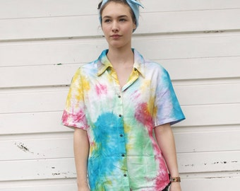 Tie-Dye Button Up Shirt