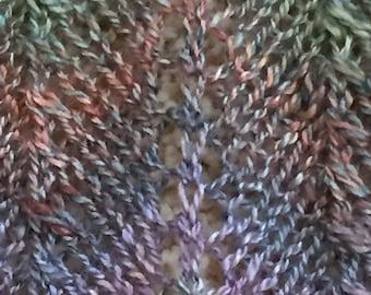 Silk blend multi colored scarf - dress up/dress down