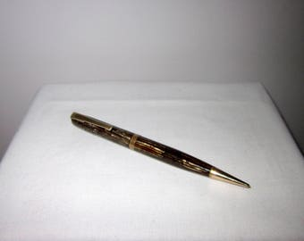 Vintage 1940s Watermans Brown Striped/ Marbled / Striated Propelling Pencil