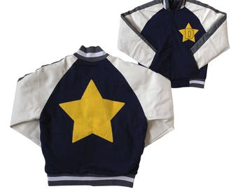 Dandy Jacket As Worn In Space Dandy TV Show Anime Cartoon D Star Varsity Sci Fi Science Fiction Costume Cosplay Coat Adult Blue