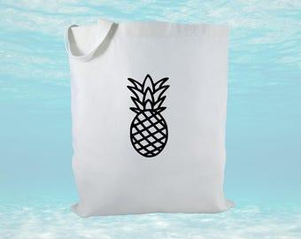 Pineapple Canvas Tote Bag, Hawaii Canvas Bag, Gift Bag, Beach Bag, Tropical Gift Bags, Canvas Tote Bag