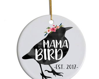 Mama Bird Ornament, Mama Bird, Mom Ornament, Ornament for New Mom, New Mom Gift, Mama Bird Gift, Present for Mom, Gift for Expecting Mom