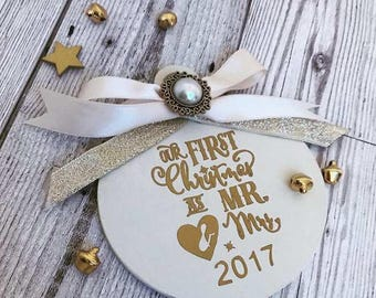 Our First Christmas as mr & mrs Bauble
