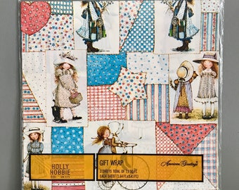 Holly Hobbie. Gift Wrap. Vintage. Wrapping Paper. American Greetings.