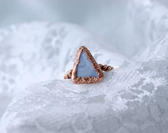 Chalcedony   Electroformed Copper Ring
