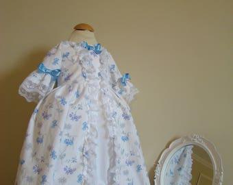 Robe historique bébé 18ème siècle style Marie-Antoinette de 9 mois au 3 ans
