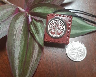 Tree of Life Miniature Book Pendant~ Ancient Knowledge Talasman ~ Book Art ~ Clay Book ~ Novel Jewellery ~