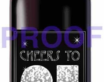 Instant Download 21st Birthday Wine Label - Cheers to 21 - Finally Legal