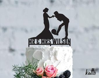 Soccer wedding cake topper- futbol Wedding Cake Topper- Personalized Soccer cake topper- Soccer Wedding Cake topper- Christmas Gift