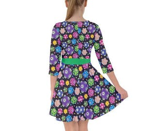 Rolling Dress - Katamari Dress Katamari Cousins Dress Katamari Damacy Smock Dress Plus Size Dress Video Game Dress Ichigo Dipp