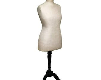 Antique mannequin - antique tailors dummy - antique dress form - antique decor - shop display - mannequin model - vintage decor - vintiques