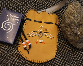 Native American Medicine Bag hand made with Eagle