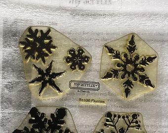 Flurries Acrylic Stamp Set