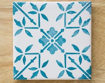"Ceramic Azulejo Tile Coaster ""Lisboa"""