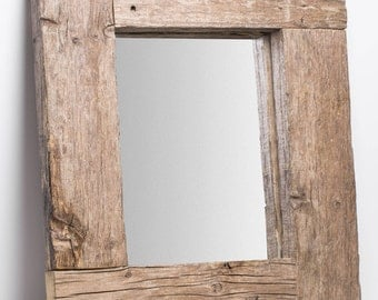 Ancient. Rustic old wooden mirror frame.