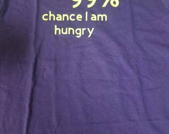 "Kids ""There is a 99% chance I am hungry"" tshirt"