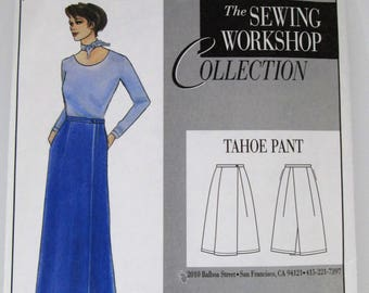 The Sewing Workshop Collection Tahoe Pant, Skirt-Like Pants, Sizes 8, 10, 12, 14, 16, 18, 20 - Small, Medium, Large & Extra Large S,M,L,XL