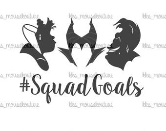 Villain Squad Goals  DIY iron on transfer== DIGITAL DOWNLOAD