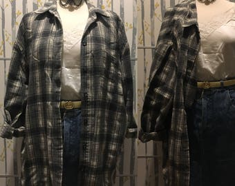 Vintage Flannel Checked Shirt Size M