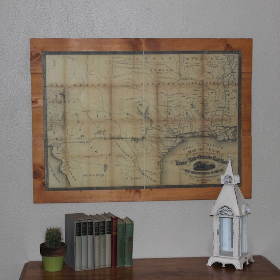 50 Farmhouse Style Gift Ideas From Etsy: Items Similar To Texas Antique Map