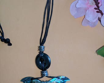 Shell butterfly necklace.