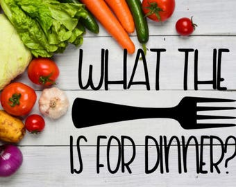 What The Fork Is For Dinner Instant Pot Decal / Pressure Cooker Decal
