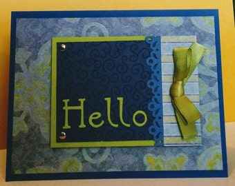 Hello Card - Note Card - Blank Card