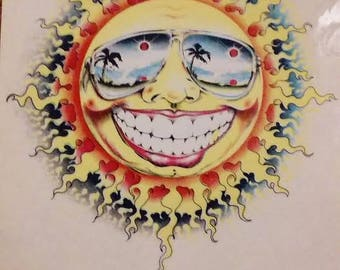 Sun sticker decal
