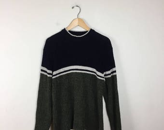 90s Preppy Sweater Size Small, UTILITY Sweater
