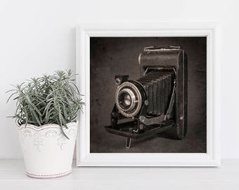 Vintage Camera Photo, Kodak Print, Gifts for Photographers, Gifts for Graphic Designes, Kodak Anastigmat Camera