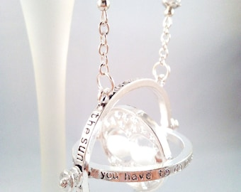 """Harry Potter """"Hermione's Time Turner"""" Silver Necklace"""