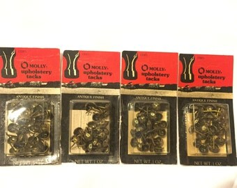 4 Pack Molly Upholstery Tacks Antique Finish 1976